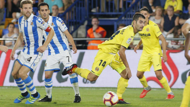 Manu Trigueros, en el primera partido de Liga ante la Real Sociedad.