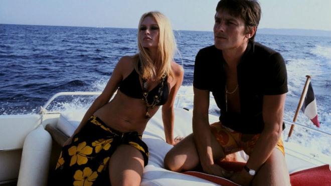 Brigitte Bardot y Alain Delon