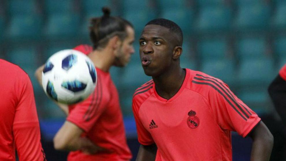 Real Madrid Brazilian player Vinicius Junior.