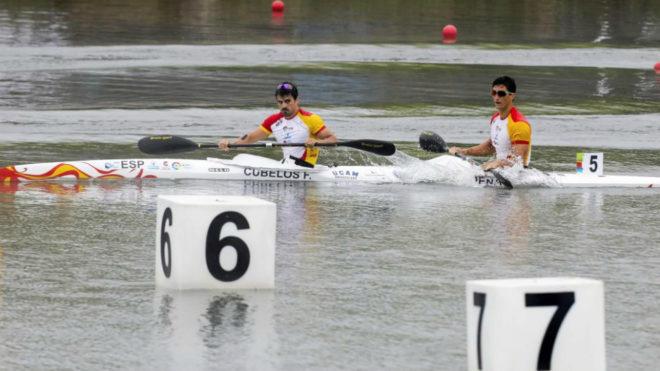 Paco Cubelos e Íñigo Peña en su semifinal de esta mañana.