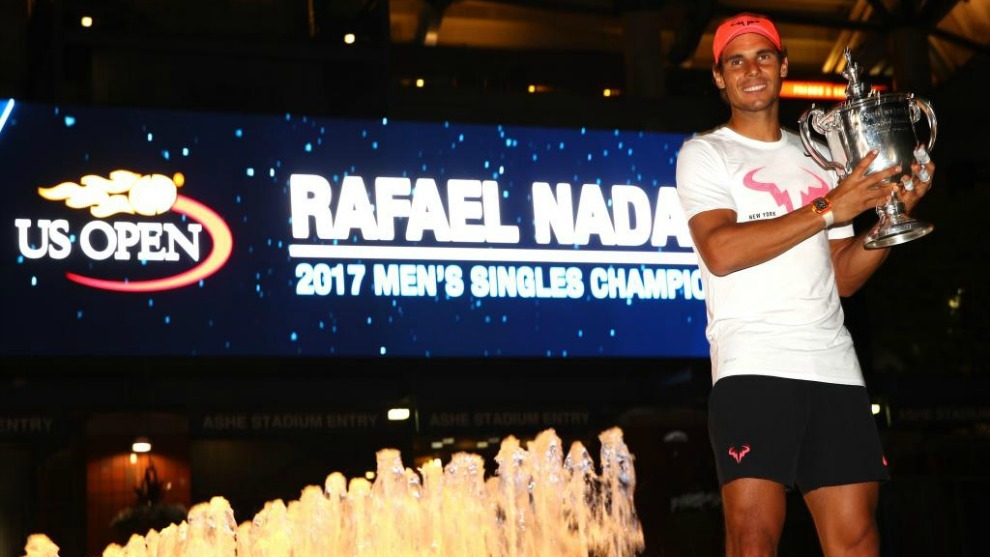 Rafa Nadal defiende el título de campeón del US Open de tenis.