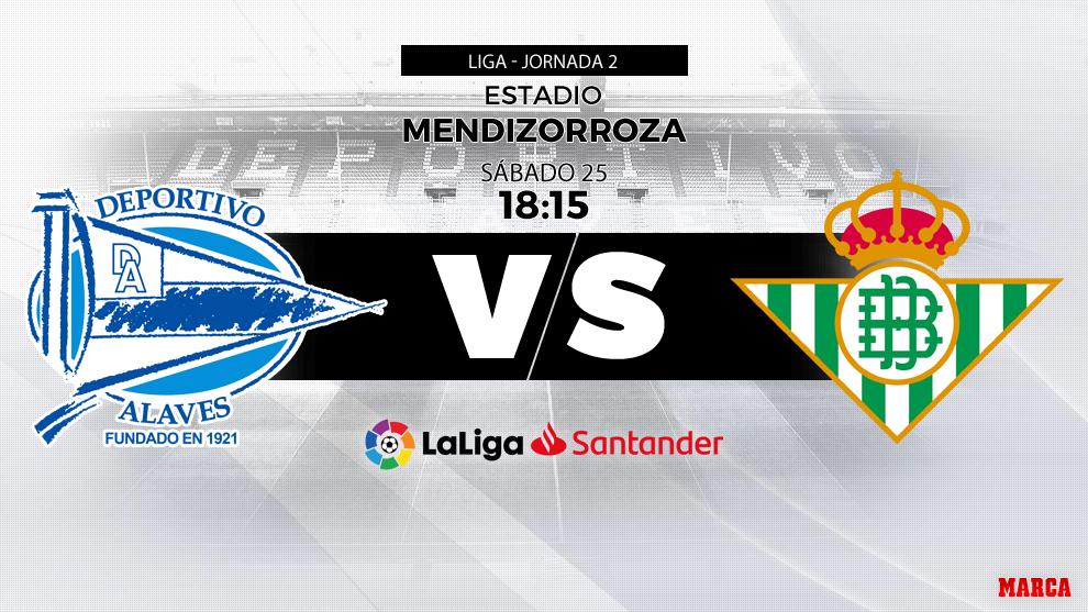 Alavés vs Betis - 25/08/2018 a las 18.15 horas
