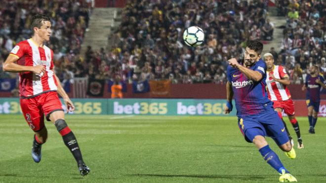 Luis Suárez en Montilivi la temporada pasada