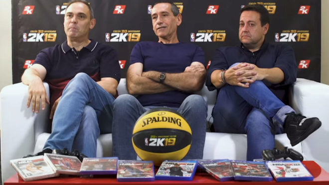 Jorge Quiroga, Sixto Miguel Serrano y Antoni Daimiel durante la...