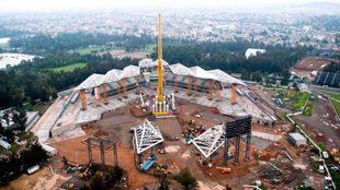 El Estadio Alfredo Harp Helú ya comienza a tomar forma