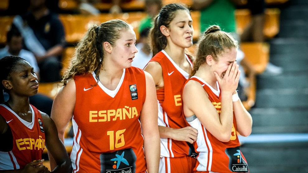 Las españolas se mostraron desoladas a la conclusión del partido