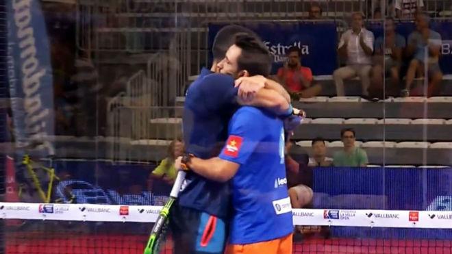 Sanyo Gutiérrez y Maxi Sánchez, tras su victoria.