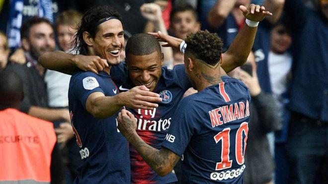 Cavani, Mbappe and Neymar