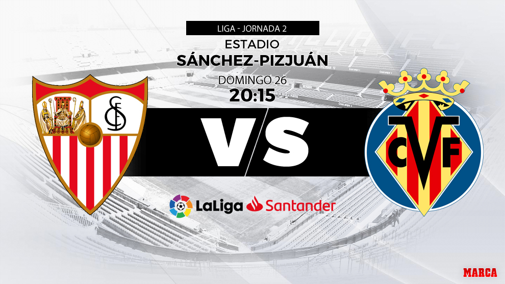 Partido Sevilla - Villarreal el domingo 26 de abril a las 20:15 horas.