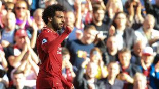 Salah pone al Liverpool líder de la Premier