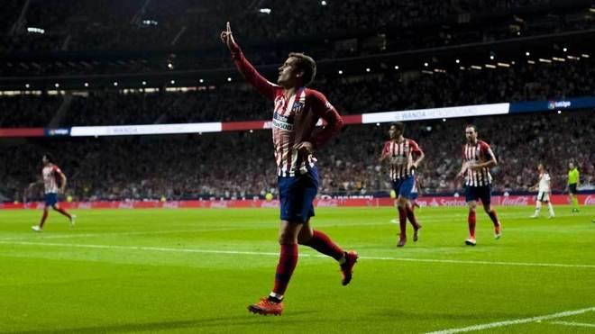 Griezmann celebrates after scoring his goal