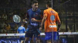 Sanyo Gutiérrez y Maxi Sánchez, durante su semifinal.
