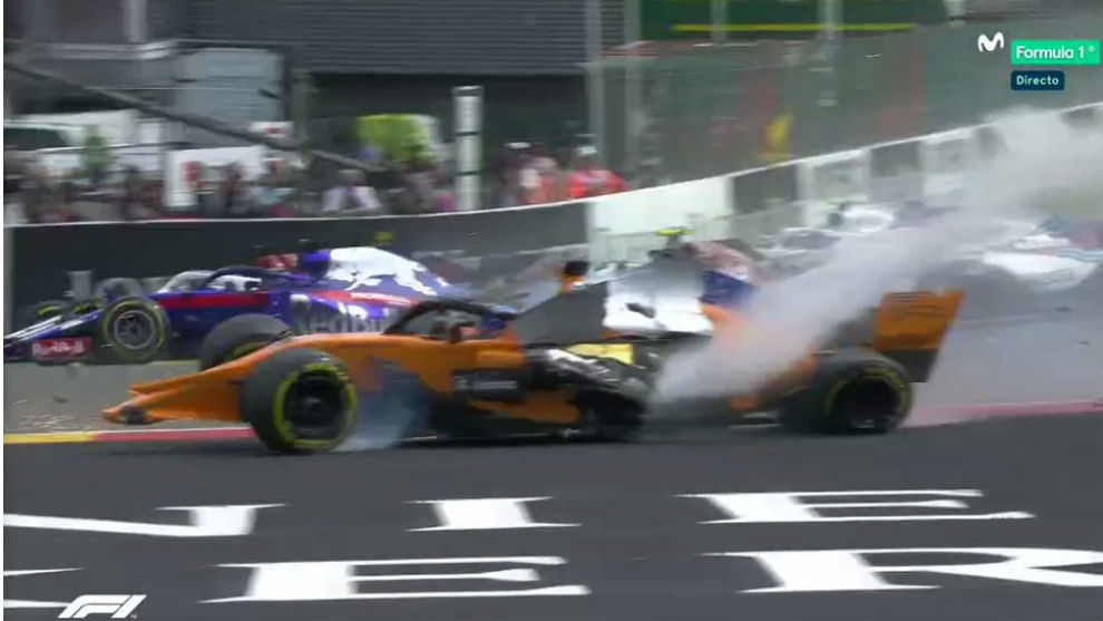 Fernando Alonso suffers huge crash, flies over other vehicle at Belgium GP