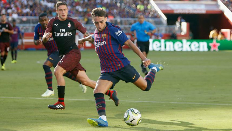 Munir shoots at goal during the International Champions Cup match...