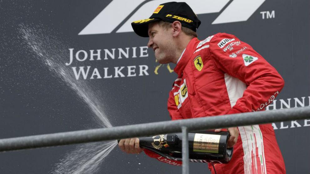 Sebastian Vettel, tras ganar hoy el Gran Premio de Bélgica