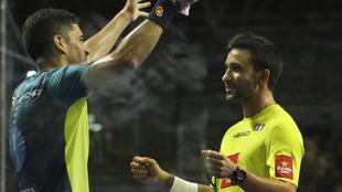 Maxi Sánchez y Sanyo Gutiérrez celebran su triunfo