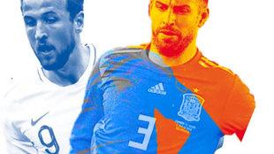 Imagen promocional del Inglaterra - España.