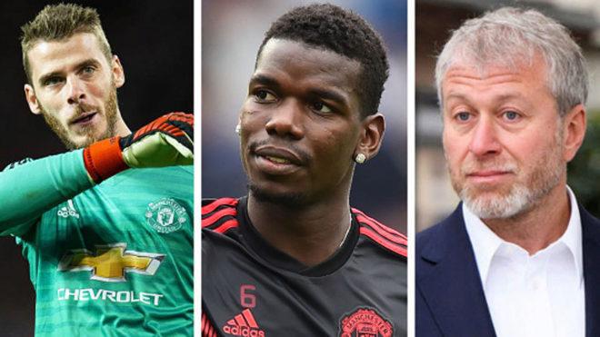 De Gea, Pogba and Abramovich.