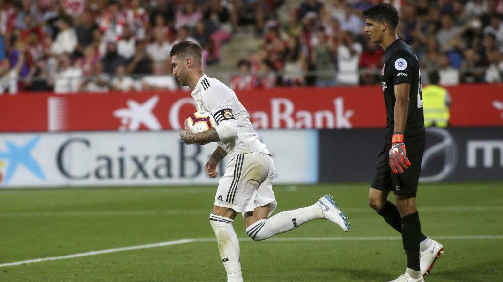 Real Madrid's Spanish defender Sergio Ramos
