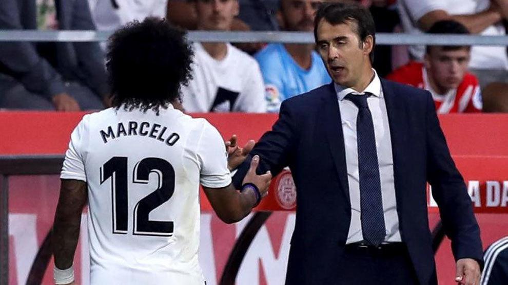 Marcelo and Julen Lopetegui.