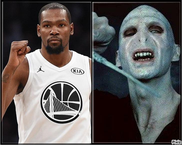 La comparativa que demuestra que Kevin Durant es en realidad Lord...