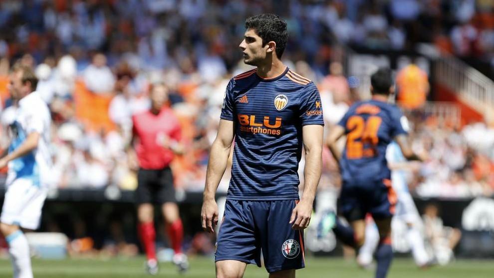 Guedes en el último partido de la temporada pasada con el Valencia en...