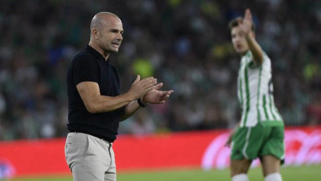 Paco López, en el partido de la primera jornada frente al Betis.