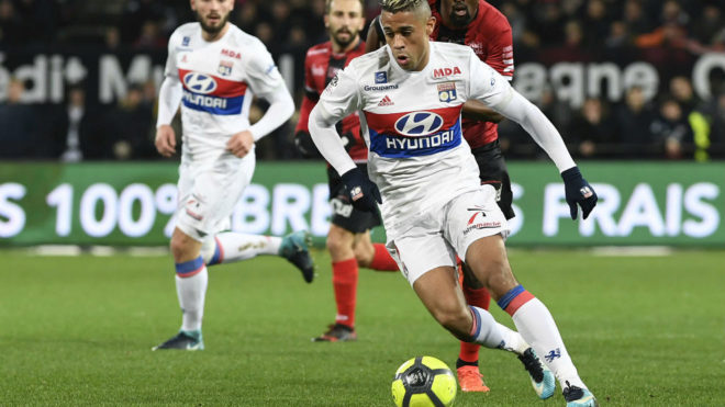 Olympique Lyon striker Mariano Diaz.