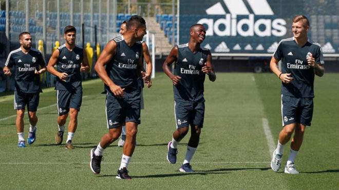 Real Madrid starlet Vinicius Junior was all smiles