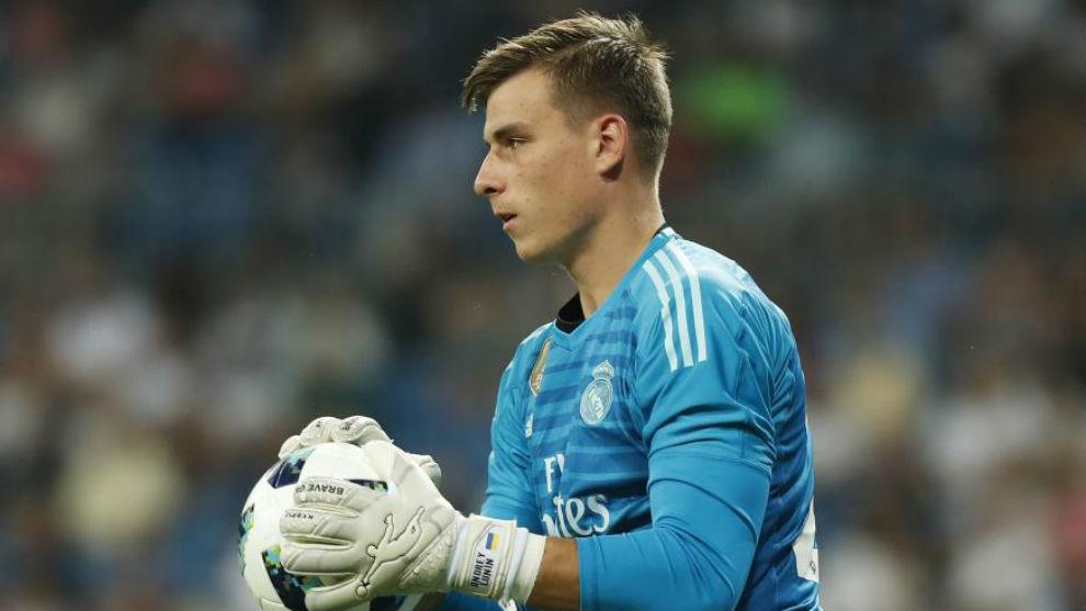 Real Madrid's teenage goalkeeper Andriy Lunin