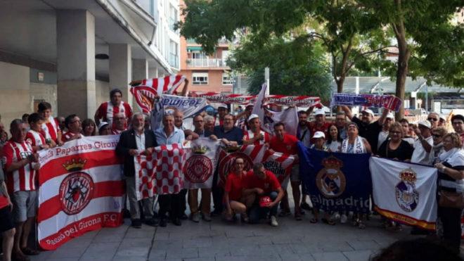 Hermanamiento aficionados Girona FC y Real Madrid