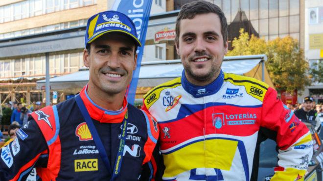 El piloto del Rally Team Spain con Dani Sordo, uno de sus referentes.