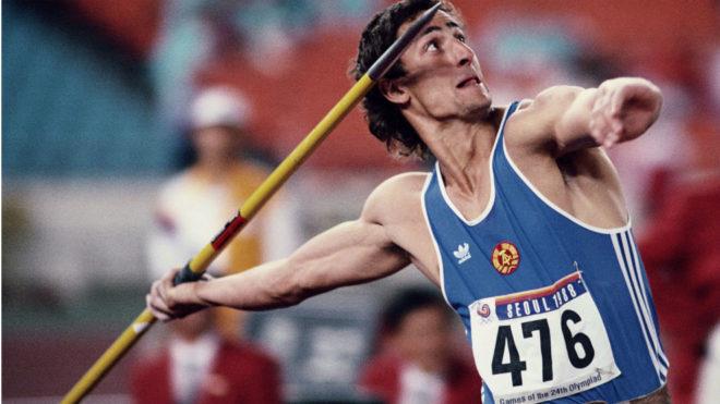 Christian Schenk, durante los Juegos de Seúl 88
