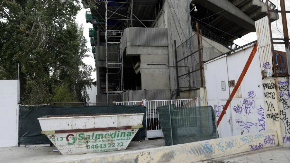 El Estadio de Vallecas, después de su cierre por parte de la...