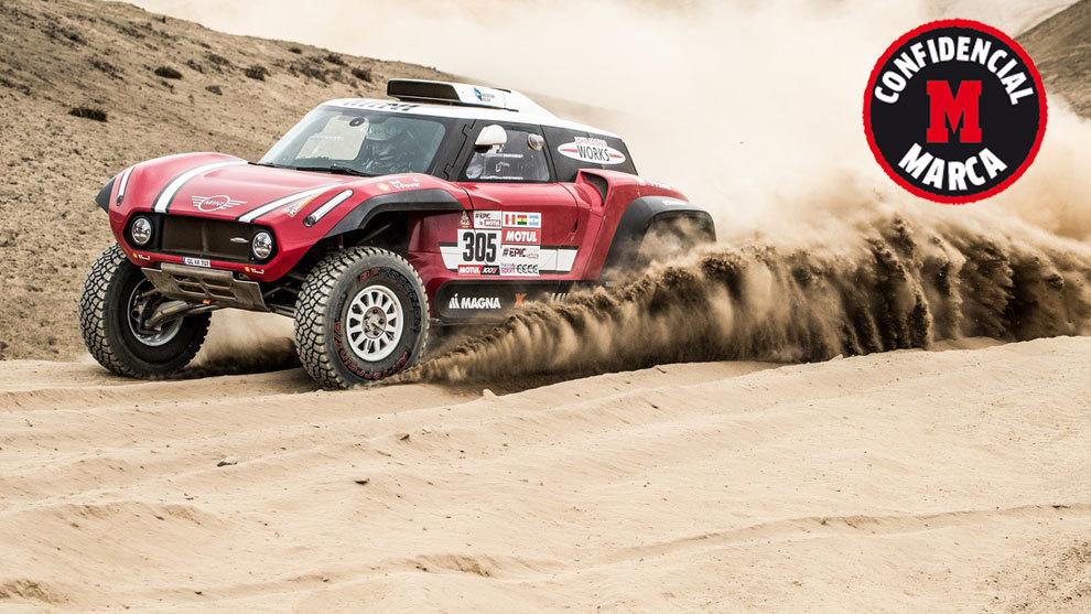 El Mini John Cooper Works buggy en el pasado Dakar.