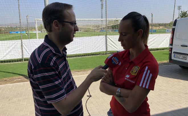 Virginia Torrecilla durante una entrevista en RadioMARCA.