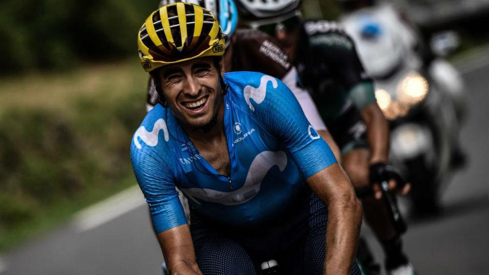 Mikel Landa, en el pasado Tour de Francia, subiendo el Aubisque.