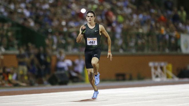 Bruno Hortelano, durante los 200 metros de Getafe