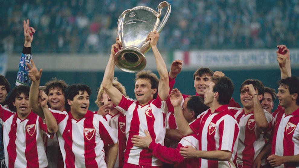 Image result for estrella roja de belgrado 1991