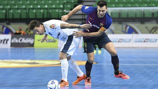 Sergio Lozano, durante el partido frente al Elite Futsal.