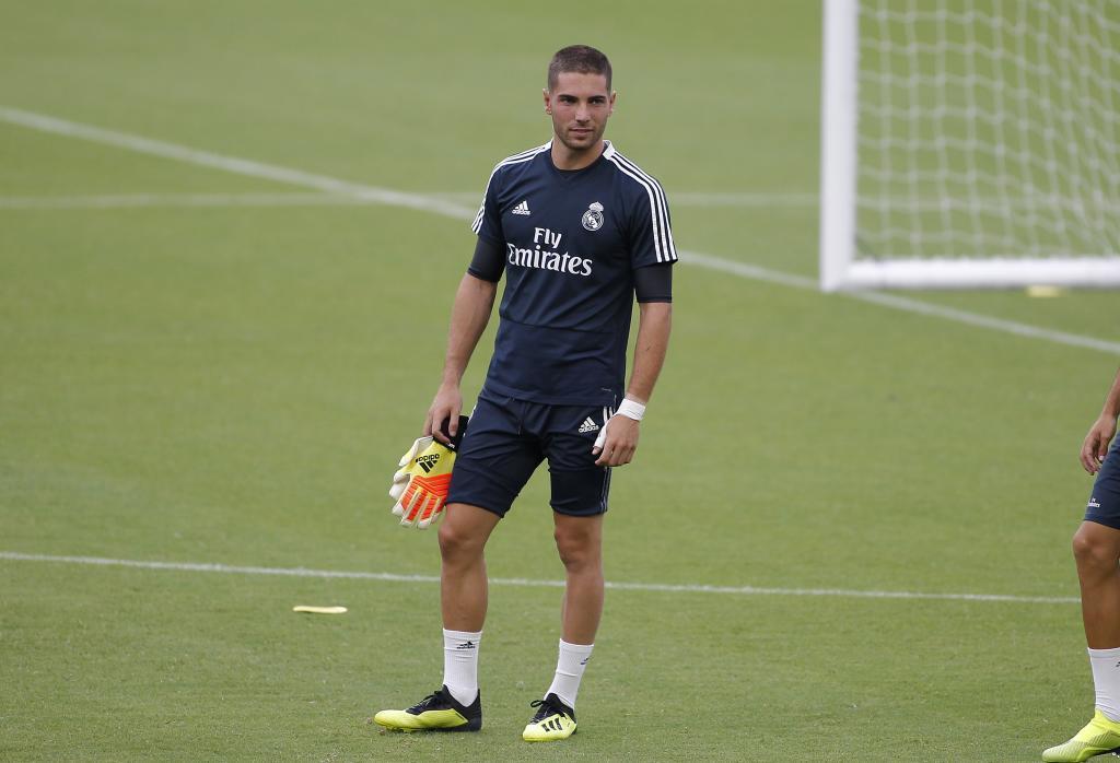 Luca Zidane, at Real Madrid training