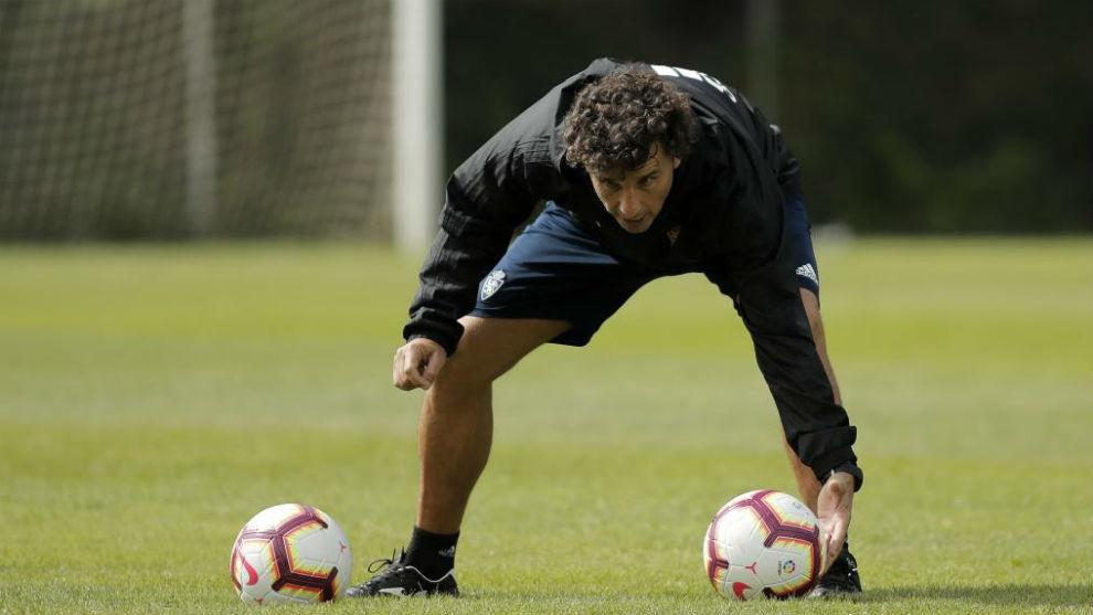 Imanol Idiakez durante un entrenamiento.