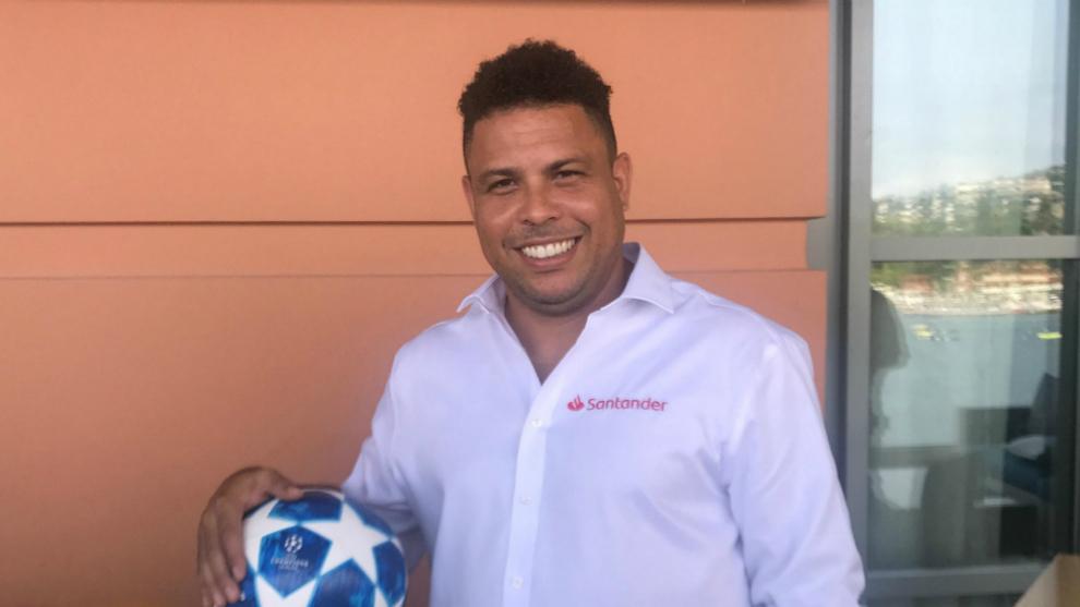 Ronaldo, embajador del Banco Santander y la Champions League
