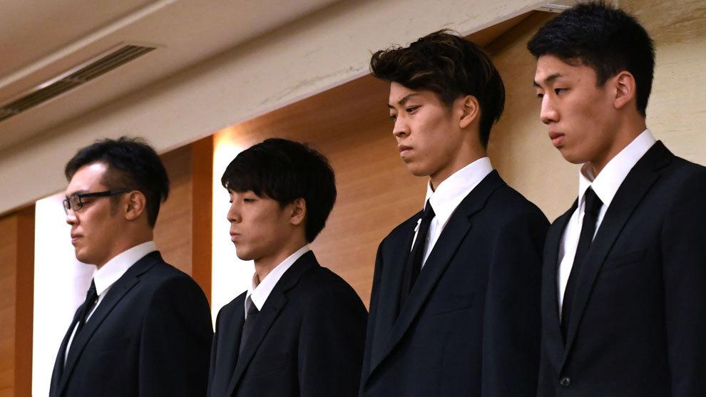 Yuya Nagayoshi, Takuya Hashimoto, Takuma Sato y Keita Imamura, los...