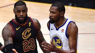 LeBron James y Kevin Durant en las Finales de la NBA 2018