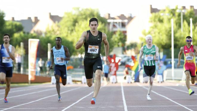 Bruno Hortelano, en los 100 metros de Getafe