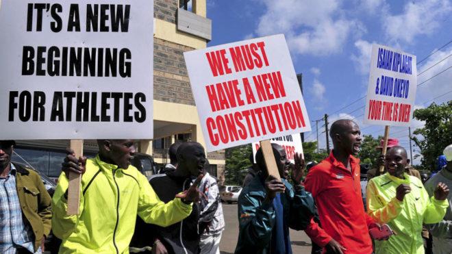 Manifestación en 2015 frente a la Federación de Kenia