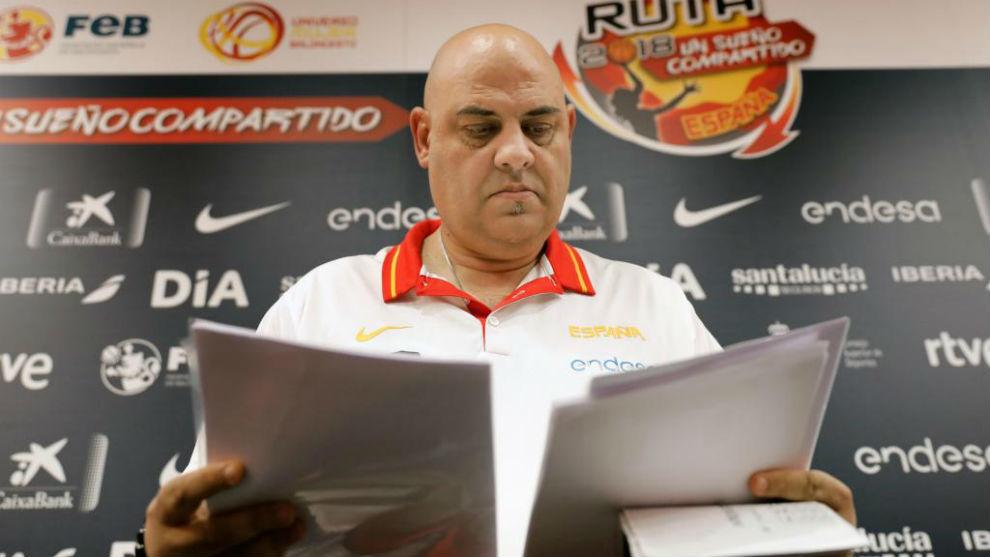Lucas Mondelo, durante su comparecencia de prensa en Valencia.