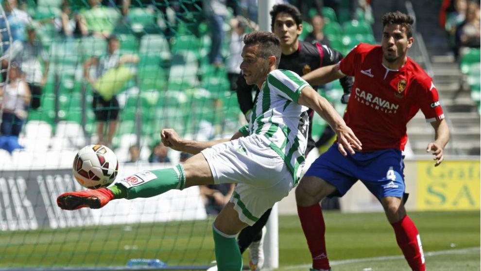 Rubén Castro, en su último partido ante el Real Zaragoza.