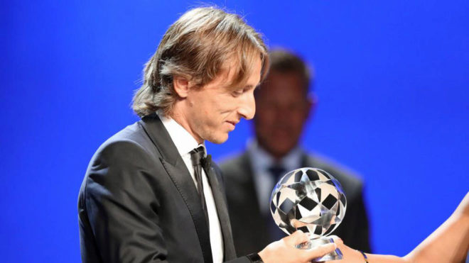 Real Madrid Croatian midfielder Luka Modric.
